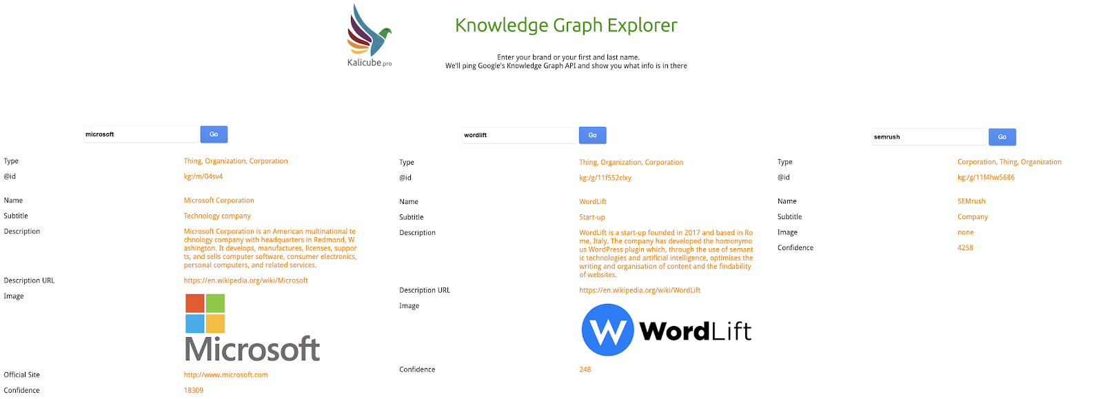 Knowledge Graph Explorer