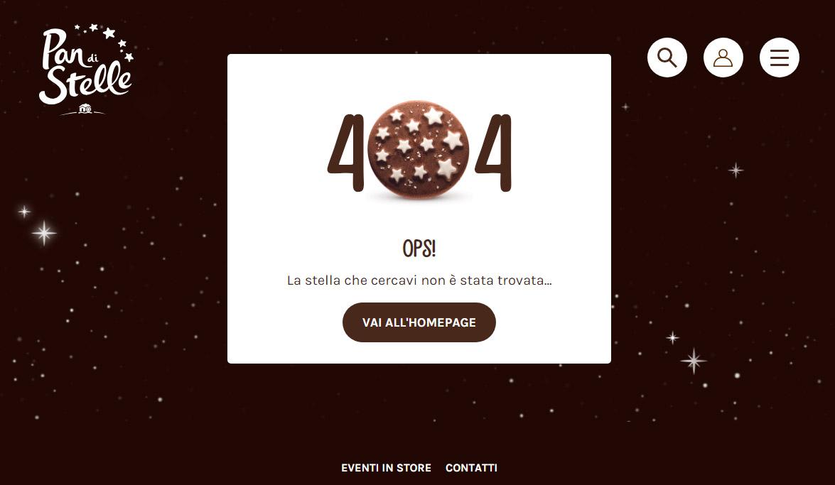 Pagina 404 del sito Pan di Stelle