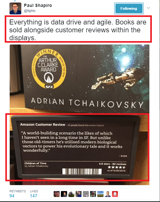 Amazon uses customer reviews to sell books