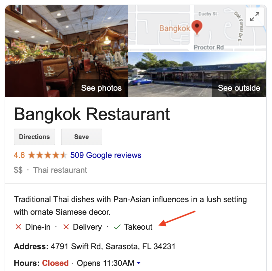 Google takeout label in the SERPs