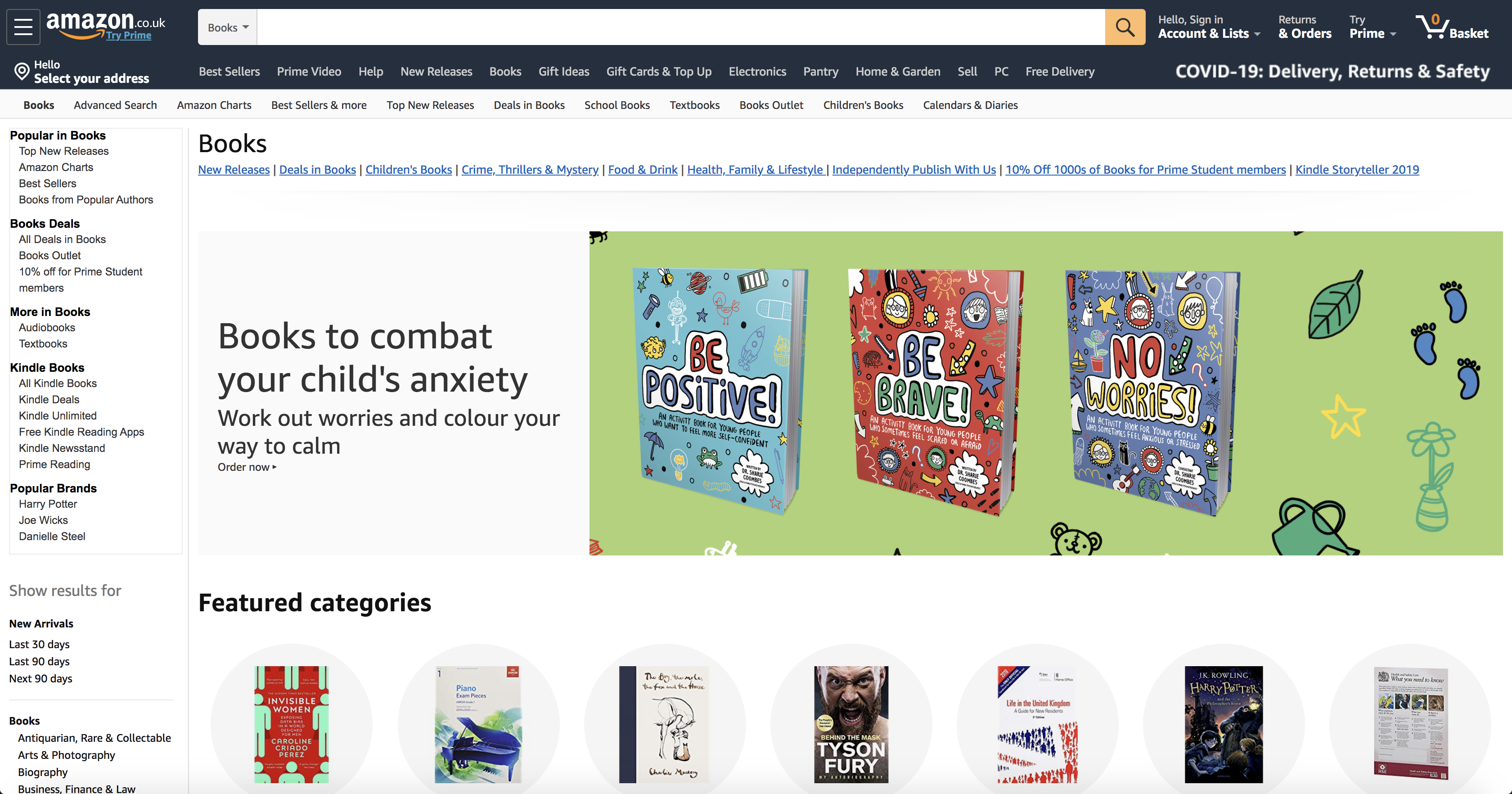 Amazon sidebar