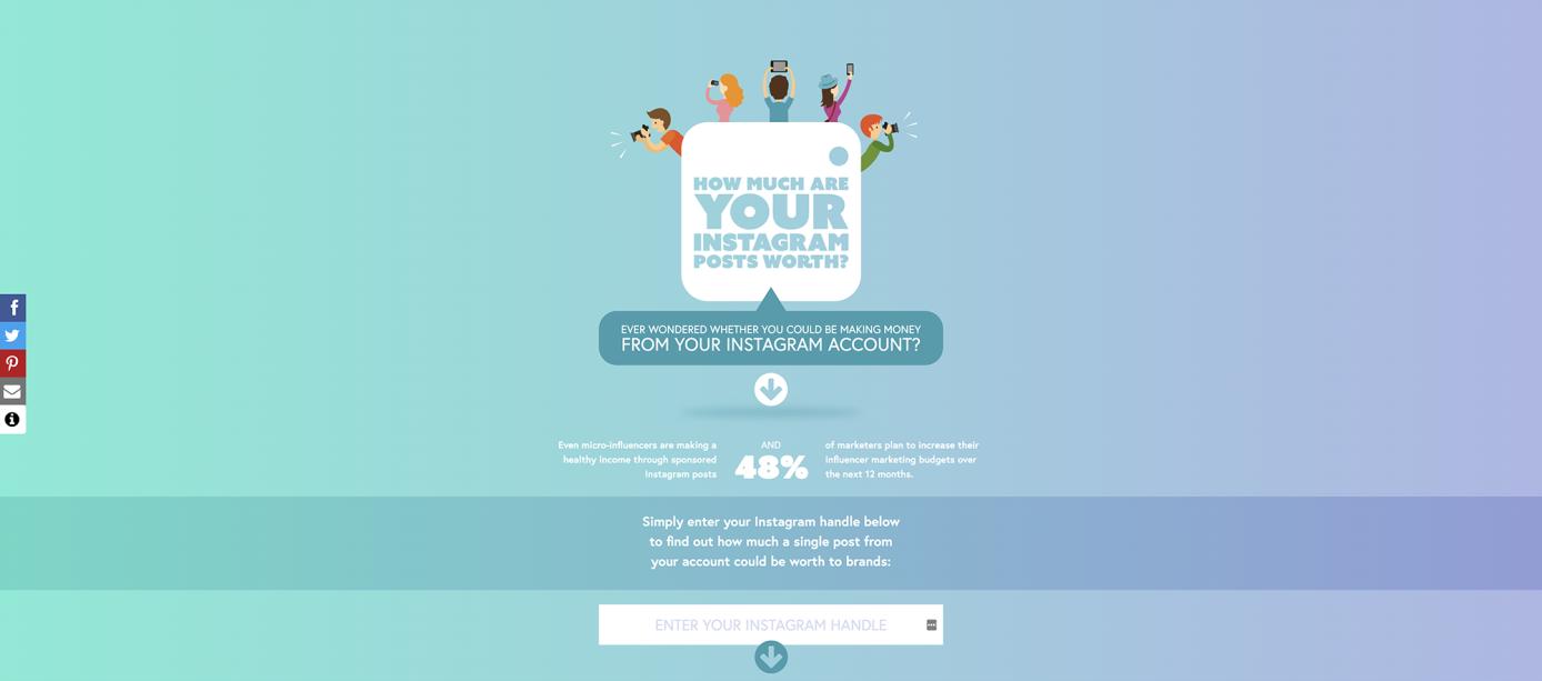 Calculez vos gains sur Instagram