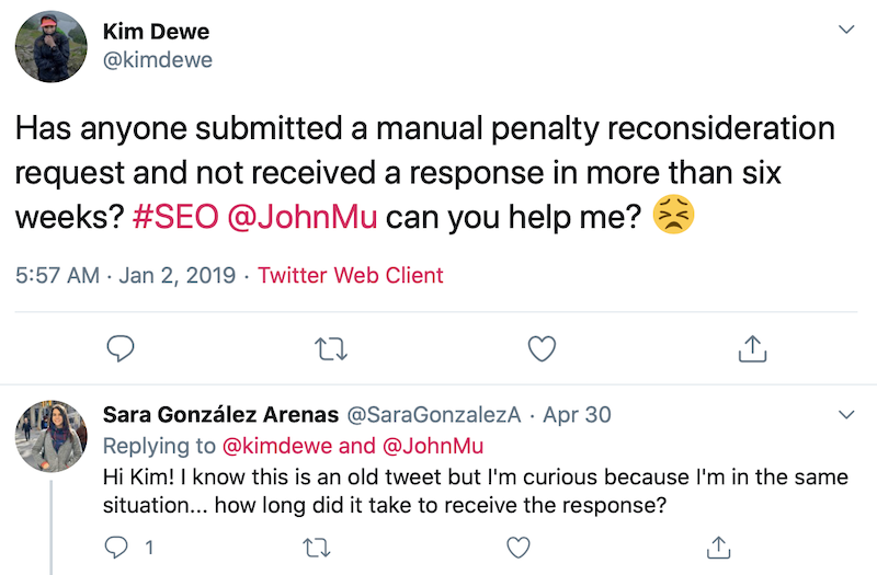 Penalizaciones Google - Tuit @kimdewe