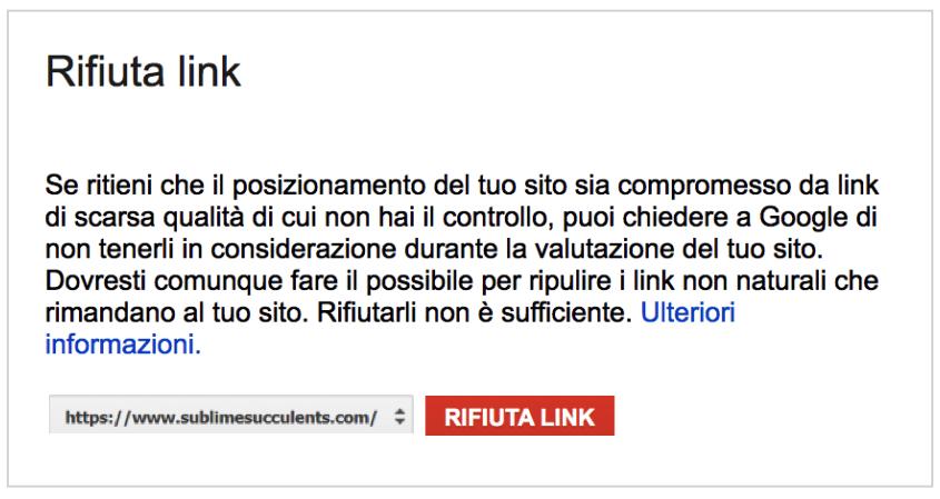 Come rifiutare i link. Immagine 0