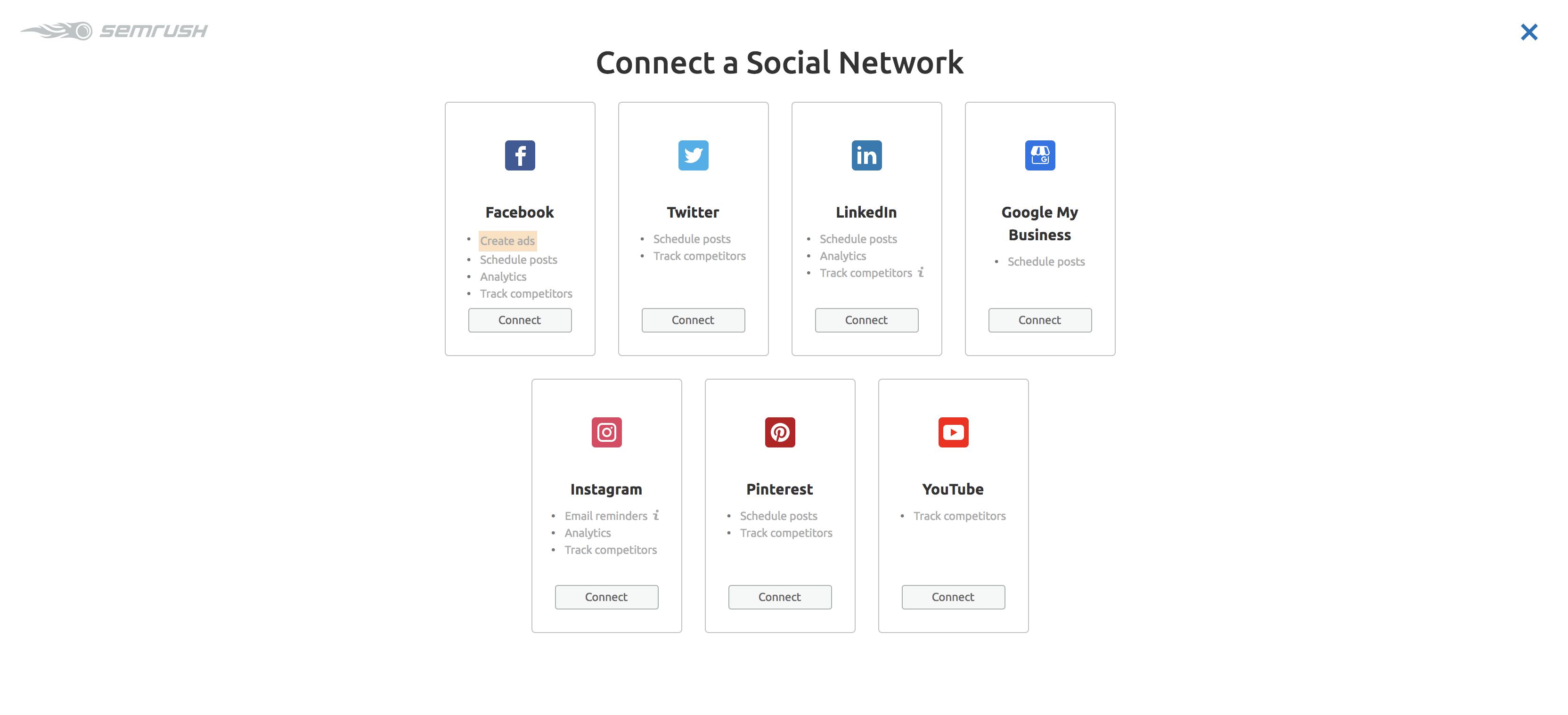 social network posting schedule screenshot