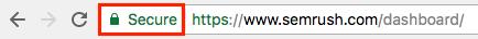 Il simbolo del lucchetto verde indica su Chrome che un sito web è sicuro