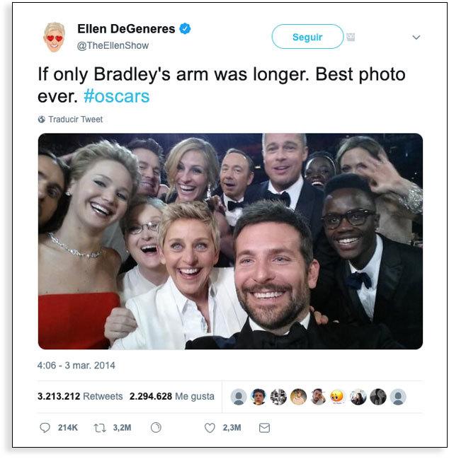 Usuarios de redes sociales - tuit Oscars