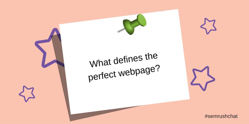 Perfect webpage