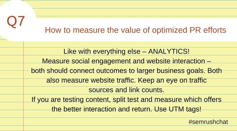 How to measure the value of optimized PR efforts