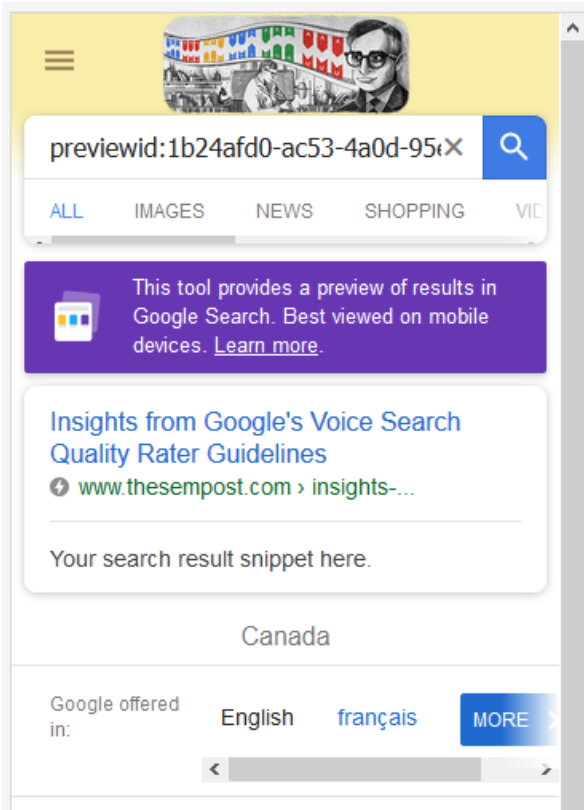 AMP Standard Mobile Search Result