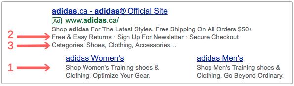 Campañas de PPC - Tipos de extensiones de ads