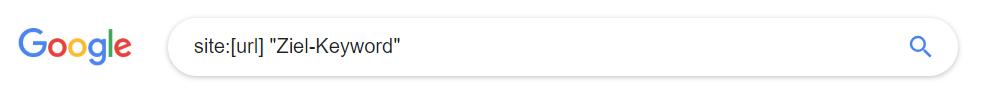 Site-Suche bei Google