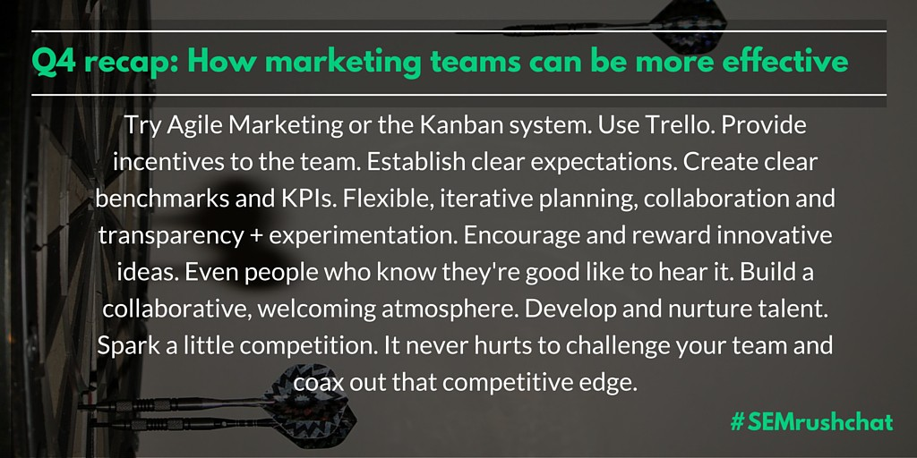 How can marketing teams be more effective