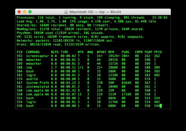 macintosh HD command menu