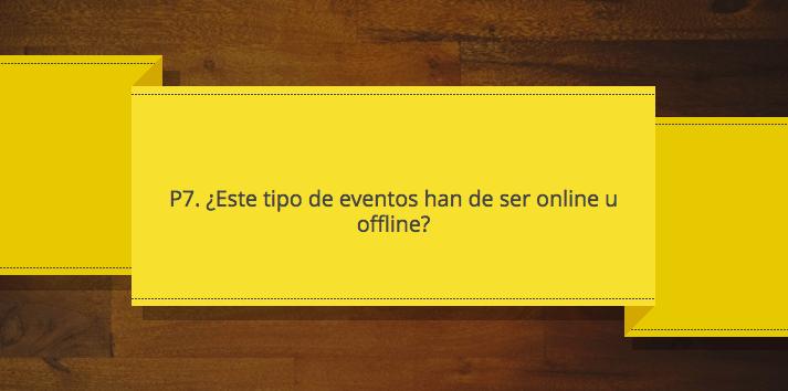 Eventos de marketing Â¿online u offline? P7