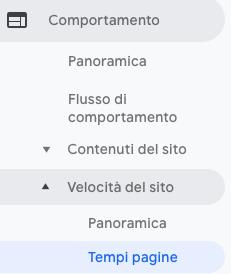 Come controllare su Analytics la velocità di caricamento di una landing page