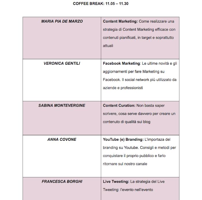 Digitale Rosa: il programma (parte 2)