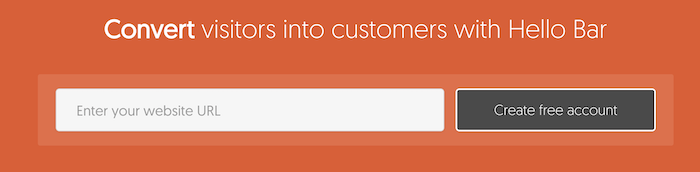 il tool Hellobar per creare pop up