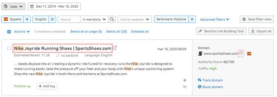 Reseñas en Google My Business - Ejemplo Nike