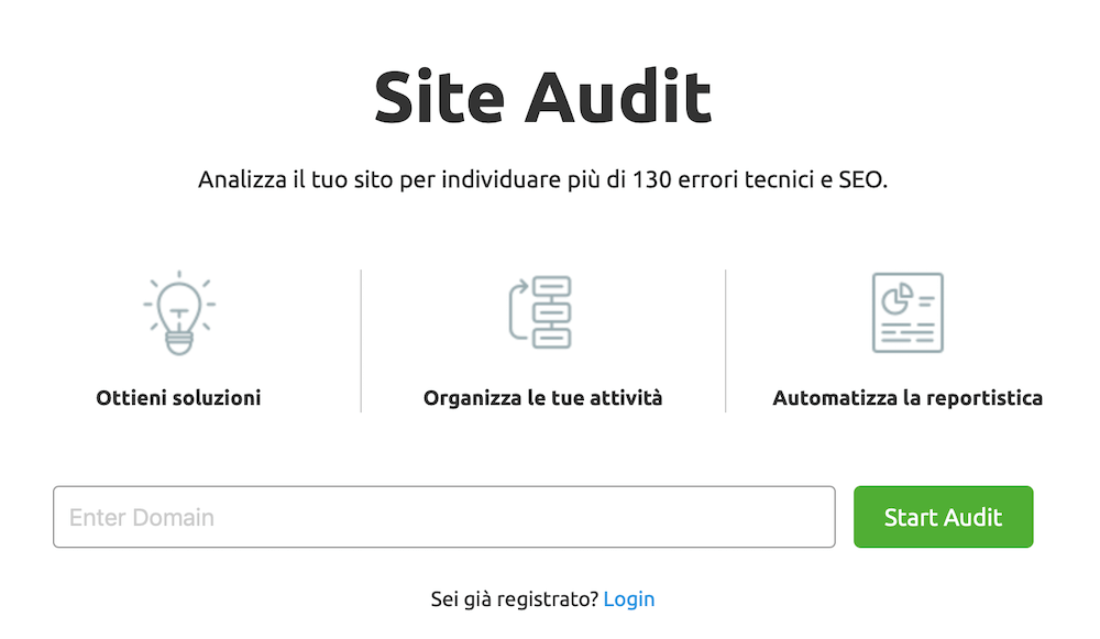 Site Audit: Trovare i broken links con SEMrush