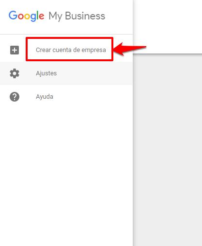 Novedades de Google My Business - Crea una cuenta de empresa