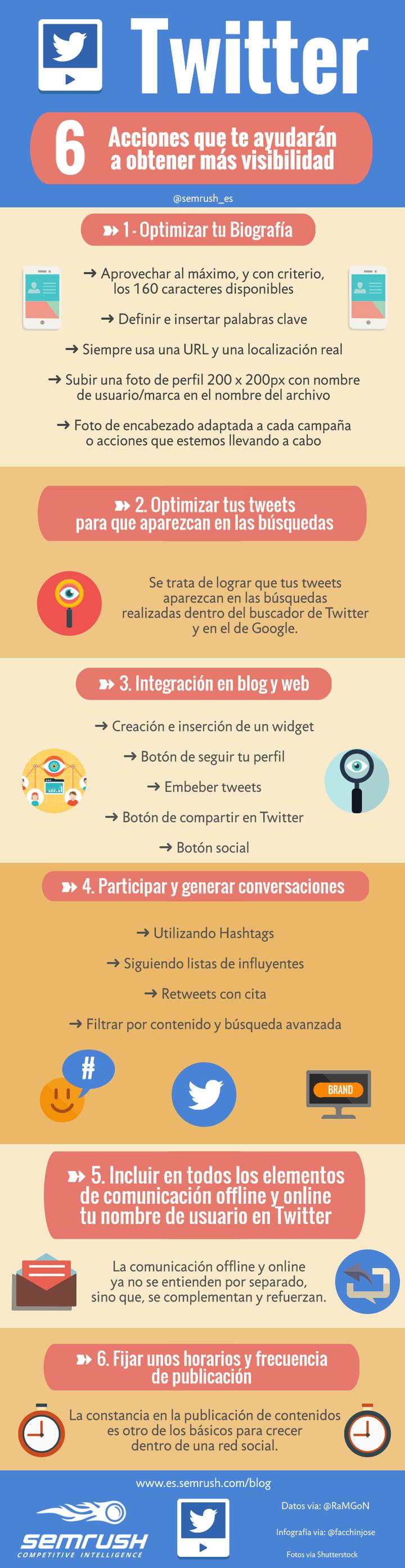 ¿Cómo conseguir más visibilidad en Twitter? #Infografía
