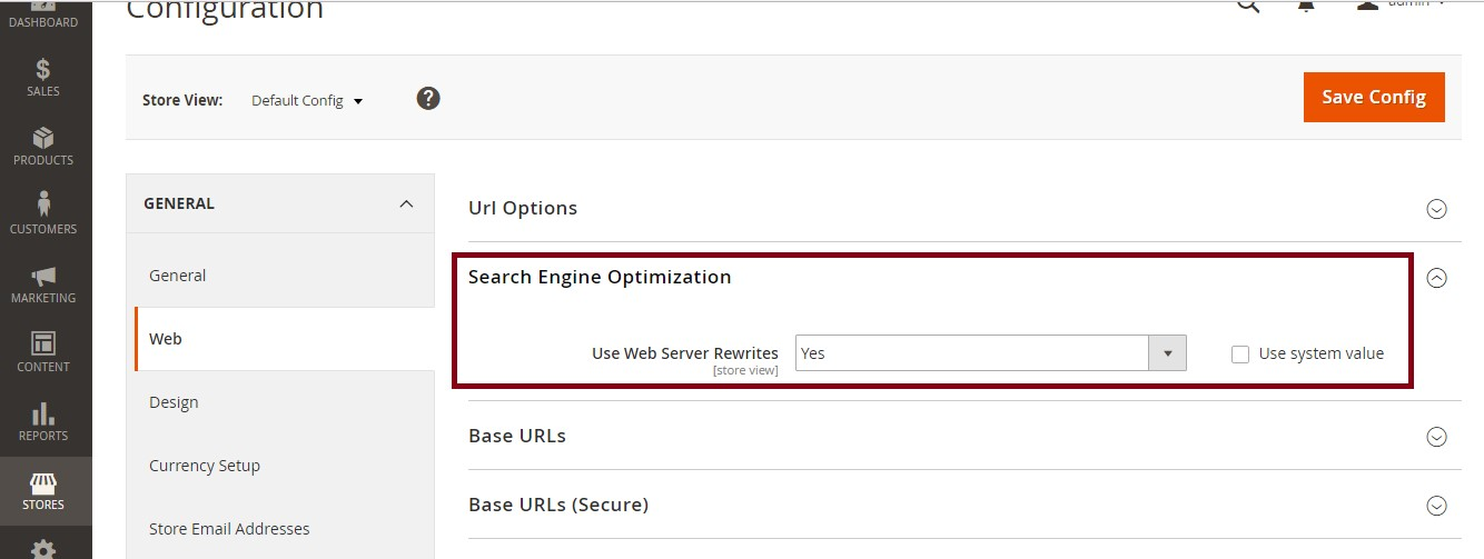 Enable SEO-Friendly URLS in Magento 2