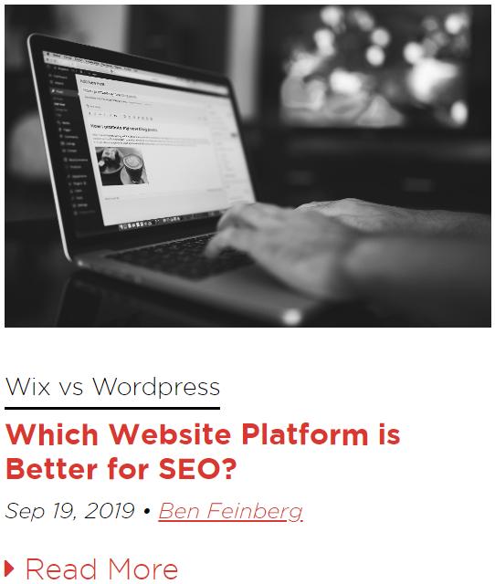 Wix vs WordPress Blog