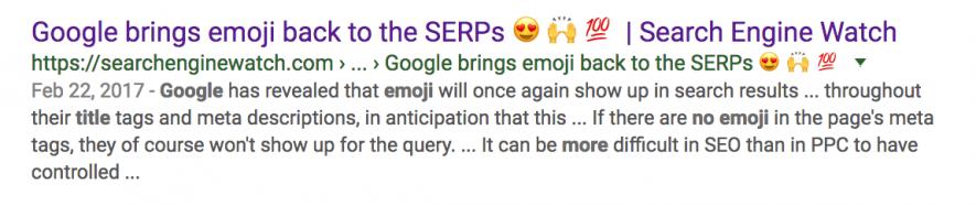 Google supporta gli emoji negli snippet in serp