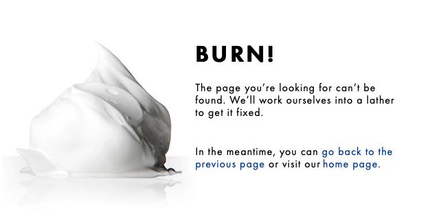 404-Seite von Gillette