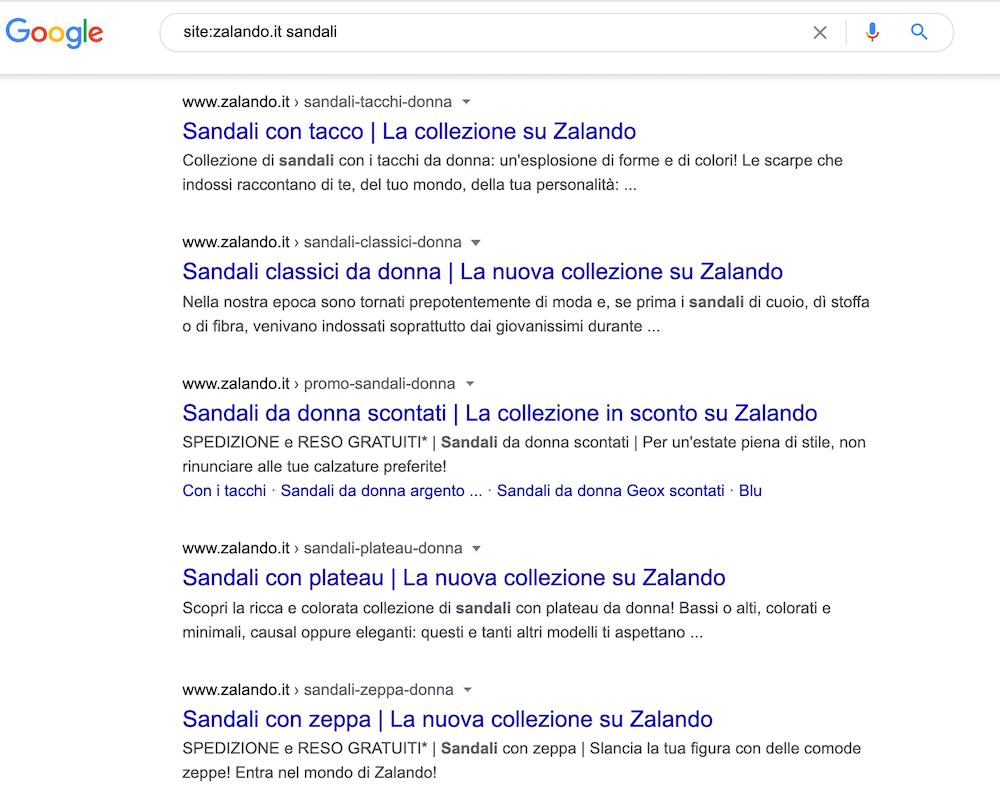 come rilevare cannibalizzazione di keyword sul tuo sito (ricerca su Google)