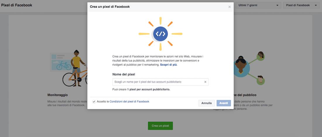 Come creare il pixel di Facebook