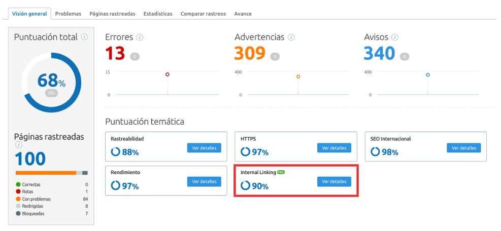 Mejores actualizaciones de SEMrush - Site Audit