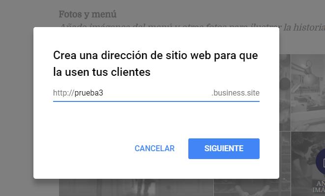 Novedades de Google My Business - Añade una URL