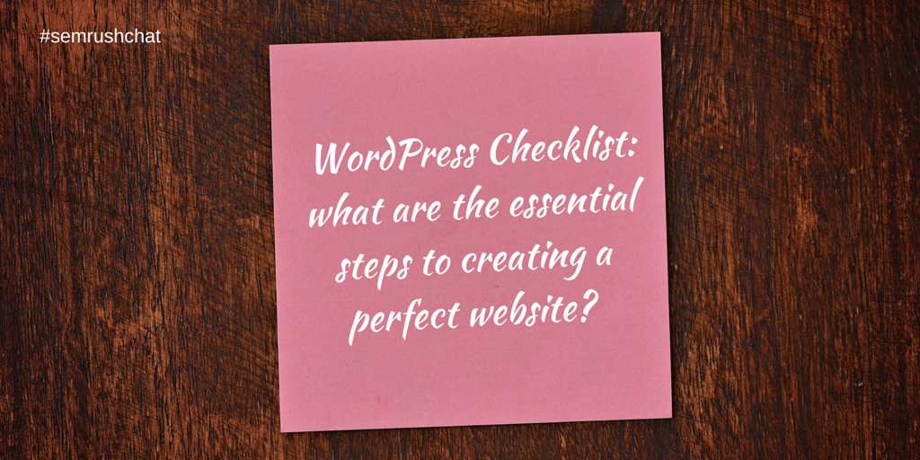 WordPress checklist