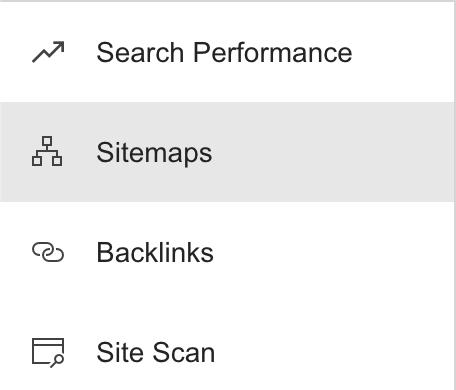 Bing Sitemaps Tab