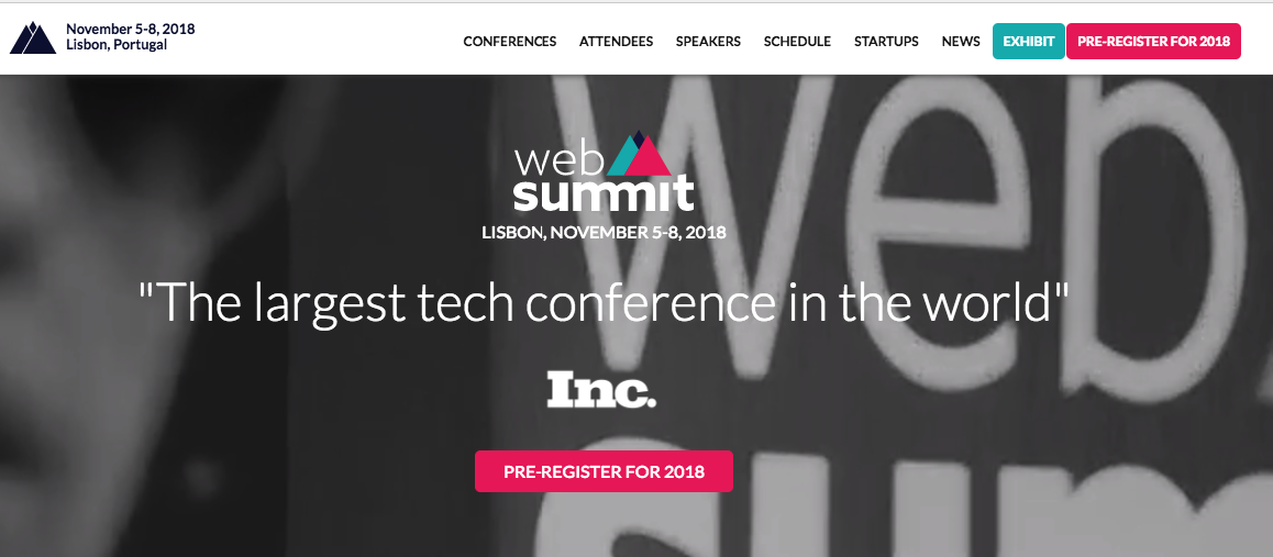 WebSummit Lisbon 2018