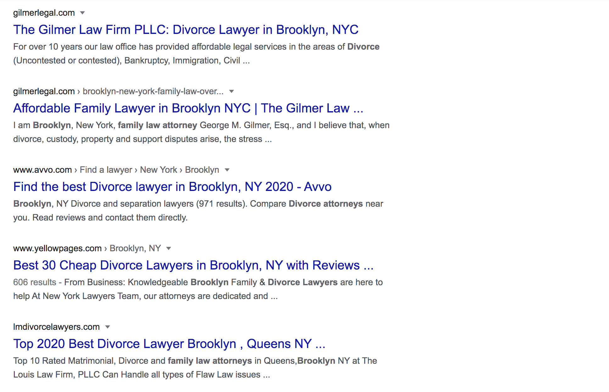attorney homepages