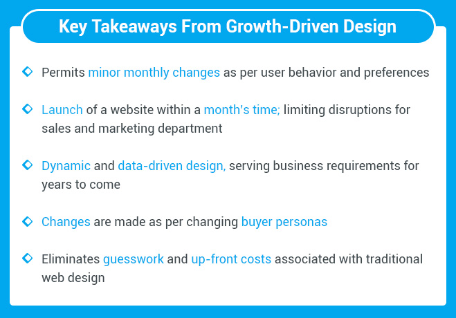 Growth-Driven Design Takeaways