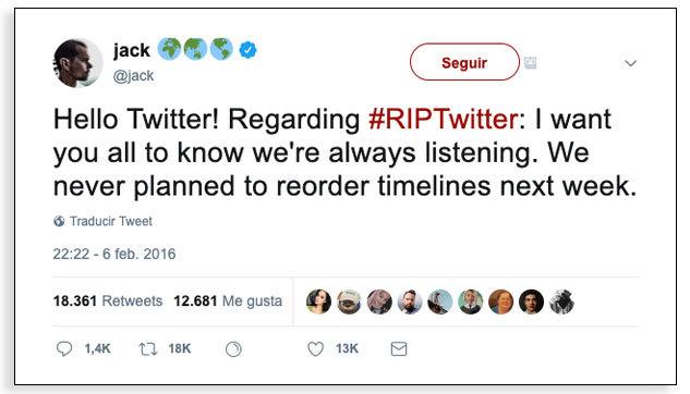 Usuarios de redes sociales - #RIPTwitter