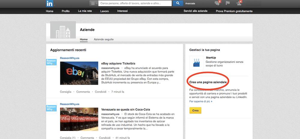 LinkedIn per aziende: come si crea una company page