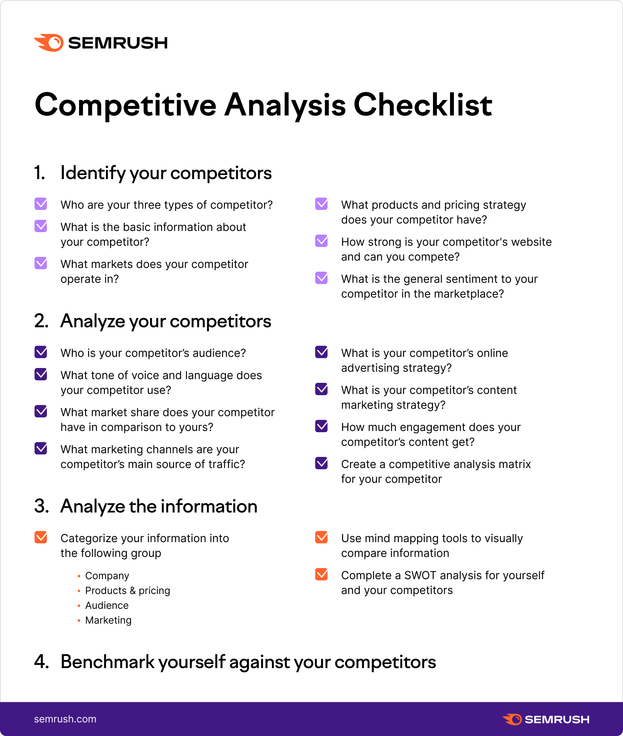 competitive analysis checklist