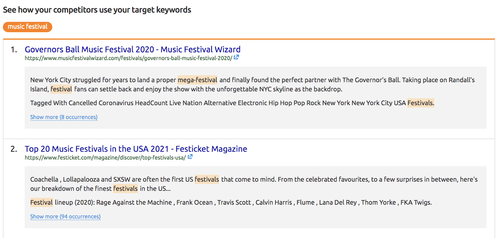 How to analyze your competitors content for a target keyword