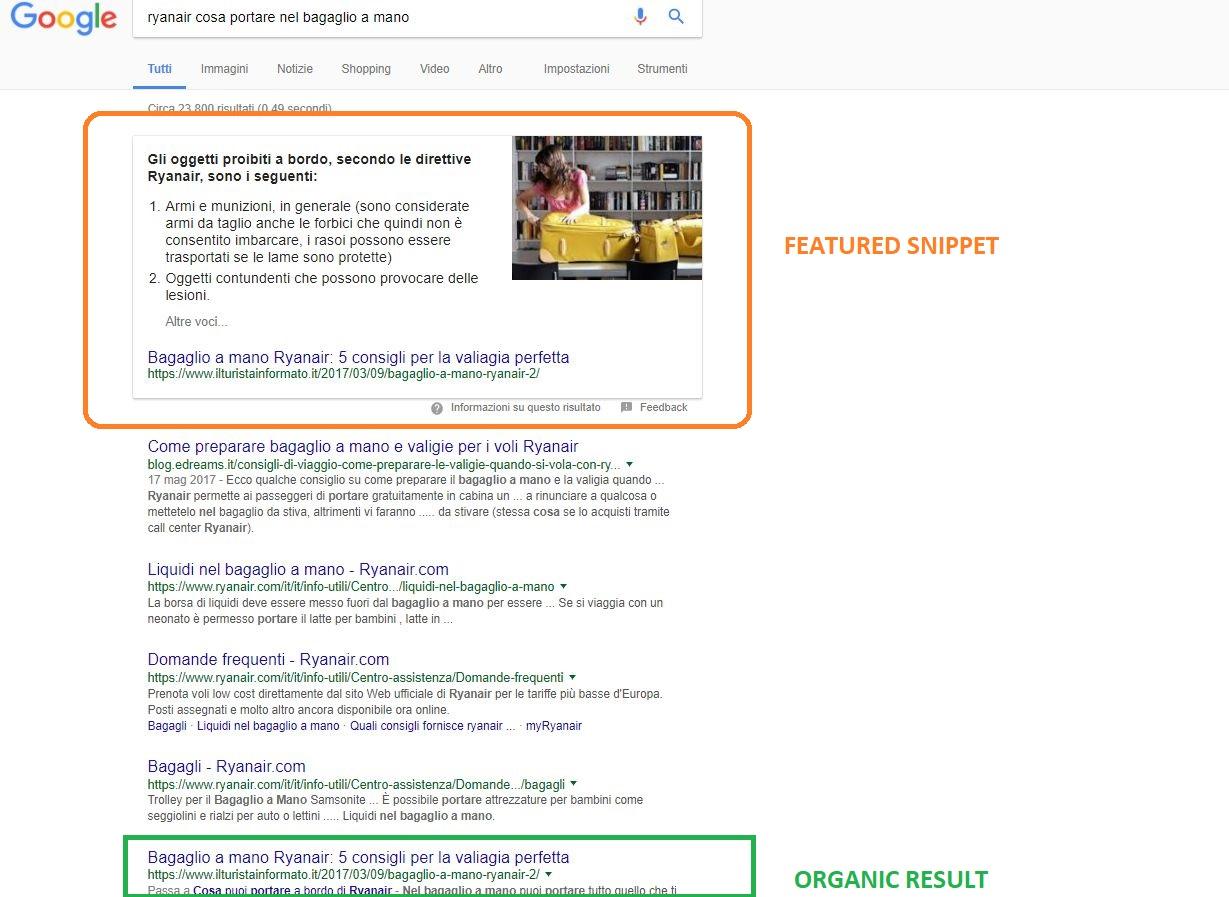 Featured snippet: posizionarsi nel risultato 0 di Google può dare doppia visibilità