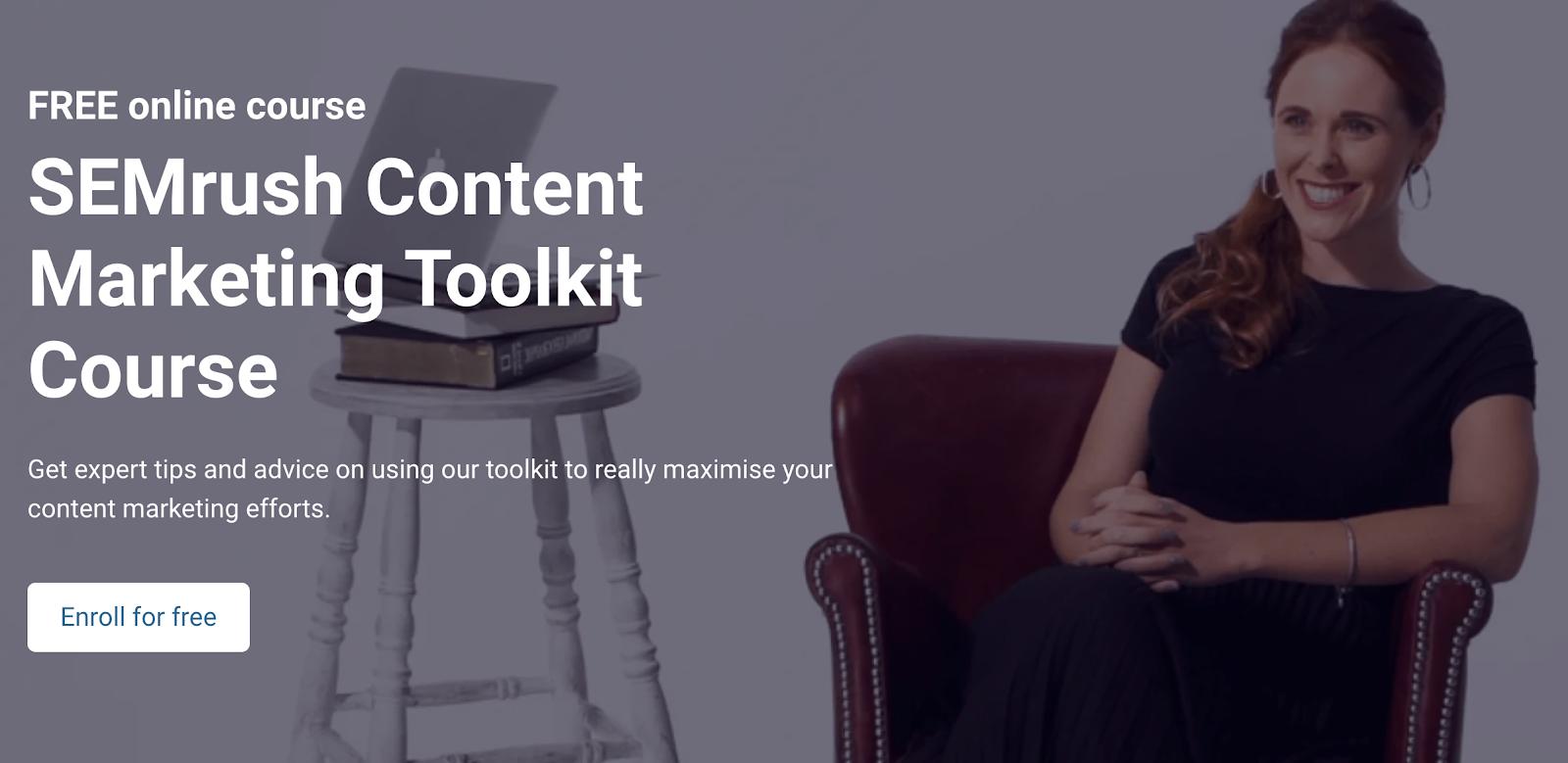 semrush content marketing toolkit course