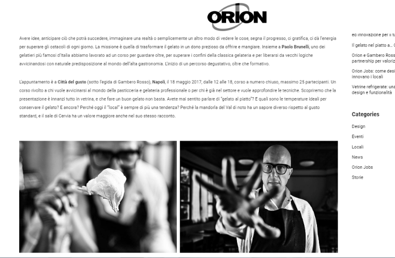 Storytelling aziendale - Orion