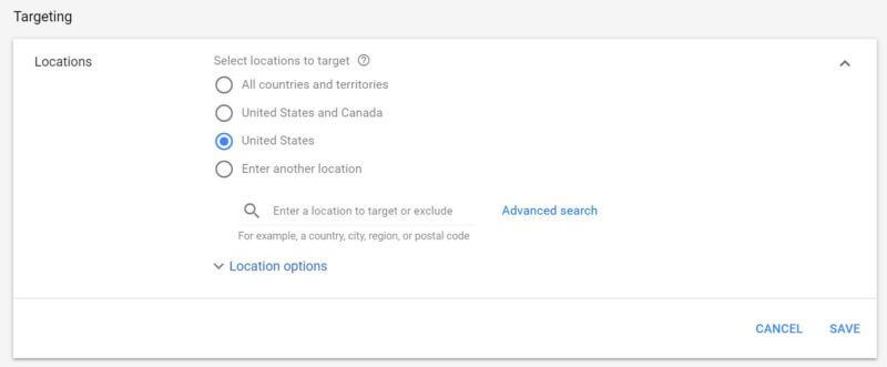 Smart Shopping Location Targeting