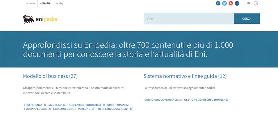 Restyling di un sito: la trasformazione digitale di eni.com