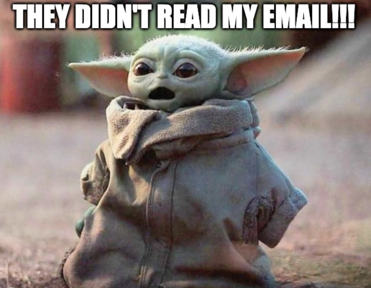 Humor about cold email trash