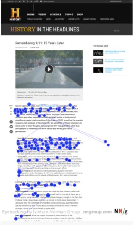 L'étude du suivi des yeuxde Nielsen Norman Group